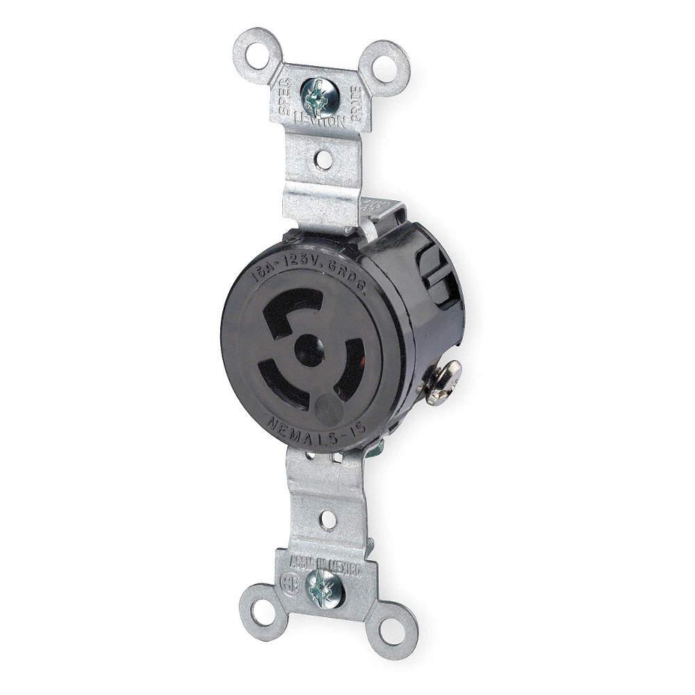 LEVITON Locking ReceptacleIndustrial15 1PKL64710 Grainger – L5-15r Receptacle Wiring
