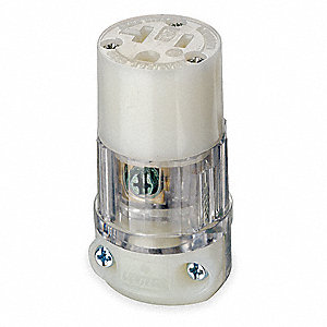 CONNECTOR,20 AMPS AC,5-20R,CLEAR