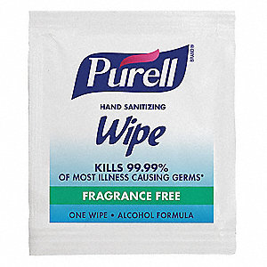 "5"" x 7"" Unscented Fragrance Hand Sanitizer Wipes, 4000 Wipes per Container, 1 EA"