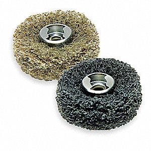 EZ Lock Abrasive Buffs,1 In D,7/64T,PK2