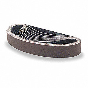 Sanding Belt,1-1/8 Wx21 In L,AO,60G,PK10