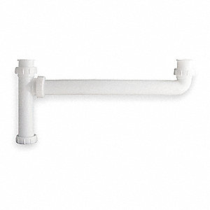 "Polypropylene White End Outlet Waste Tee, 1-1/2"" Pipe Dia., Direct Connection or Slip Connection - D"