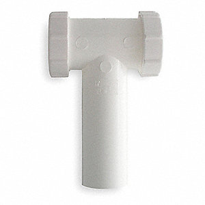 "Polypropylene White Center Outlet Waste Tee, 1-1/2"" Pipe Dia., Slip Connection - Drains"