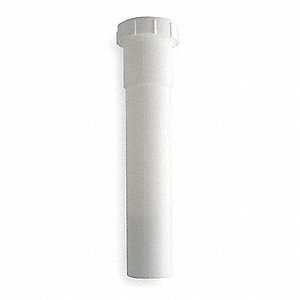 "Polypropylene White Extension, 1-1/2"" Pipe Dia., Slip Connection - Drains"