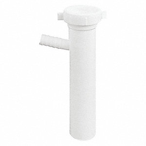 "Polypropylene White Tailpiece, 1-1/2"" Pipe Dia., Slip x Barb Connection - Drains"