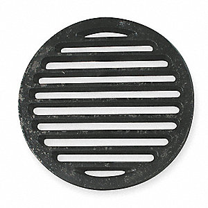 Shower Drain Grid,Pipe Dia 6 In,CI