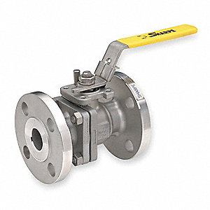 "316 Stainless Steel Flanged x Flanged Ball Valve, Locking Lever, 1"" Pipe Size"
