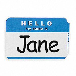 Name Badge,Hello, My Name Is,PK100