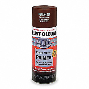 Spray Primer,Rusty Meta Brown,12oz.