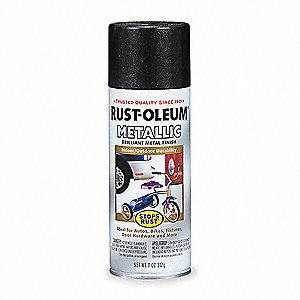 Stops Rust® Metallic Spray Paint in Metallic Black Night for Concrete, Masonry, Metal, Wood, 11 oz.