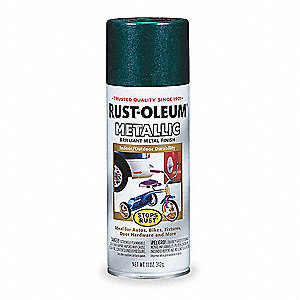 Stops Rust® Metallic Spray Paint in Metallic Racing Green for Concrete, Masonry, Metal, Wood, 11 oz.