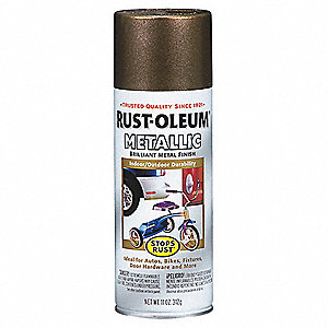 Stops Rust® Metallic Spray Paint in Metallic Antique Brass for Concrete, Masonry, Metal, Wood, 11 oz