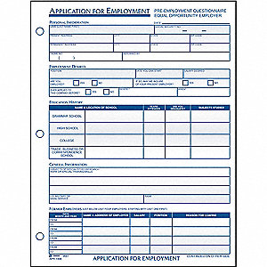 Employment Application Forms,PK2