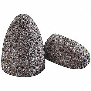 "2"" Grinding Cone w/Round Tip, 3"" Thickness, Zirconia Alumina, 20 Grit, 5/8-11 Arbor Size"