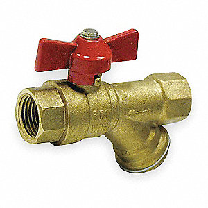 "3/4"" Butterfly Combination Strainer/Ball Valve FNPT x FNPT"