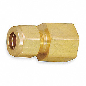 "Brass A-LOK® x FNPT Female Connector, 1/4"" Tube Size"