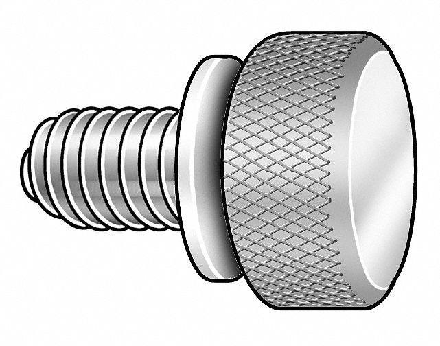 Thumb Screw,knurl,6-32x1//2 L,PK10 090632050T