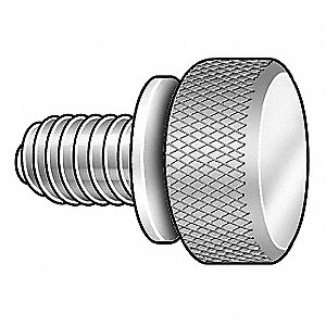 Thumb Screw, Knurl, 1/4-20x3/4 L, Pk5