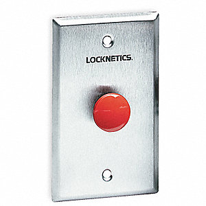 Standard Push Button,Red,Steel