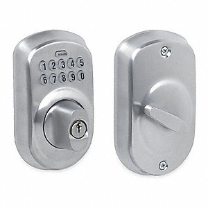 Keypad Deadbolt, Satin Chrome, Series