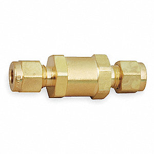 "1"" Instrumentation Check Valve, Brass, CPI® Connection Type"