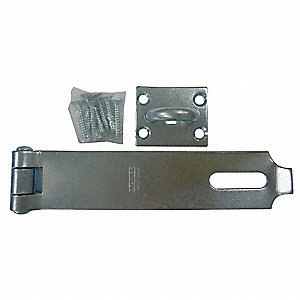"Conventional Rotating Eye Hasp, 1-7/8""H x 1-1/2""W x 7-1/2""L, Zinc Plated Finish"