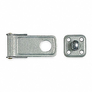 "Conventional Rotating Eye Hasp, 2""H x 1-1/2""W x 6""L, Galvanized Finish"