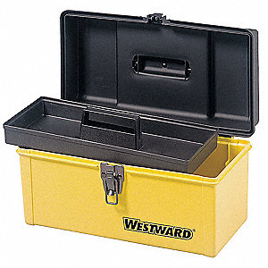 "Portable Tool Box, Plastic, 13"" Overall Width x 8-1/2"" Overall Depth"