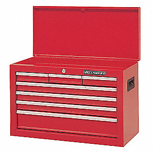"Red Top Chest, 26"" Width x 12""  Depth x 17-1/2"" Height, Number of Drawers: 4"