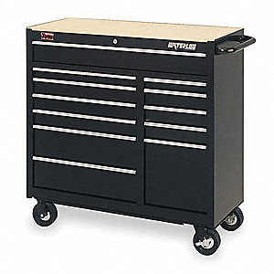 Tool Cart,12 Dr,41 1/4 In,Black