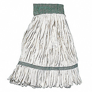 Quick Change Cotton String Wet Mop Head, White