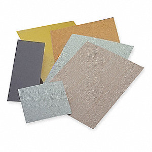 "Fine Aluminum Oxide Sanding Sheet, 150 Grit, 5-1/2"" L X 4-1/2"" W, Backing Weight : C, 6 PK"