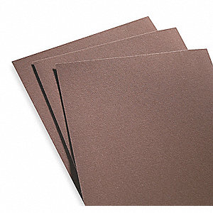 "Fine Emery Emery Cloth, 100 Grit, 11"" L X 9"" W, Backing Weight : J, 50 PK"