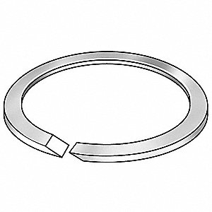 "Rectangular Very Hard PTFE O-Ring, 0.891"" I.D., 1.129""O.D., 50PK"