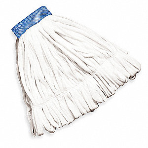 Clamp Cotton String Mop Head, White