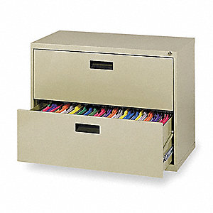 "30"" x 18"" x 26-5/8"" 2 File Cabinet, Putty"