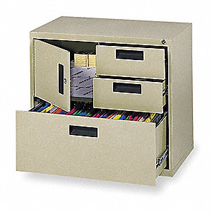 Cabinet,Lateral File,26 5/8Hx30W,Putty