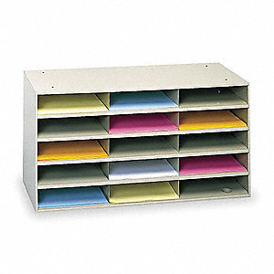Literature Organizer,15 Compartments