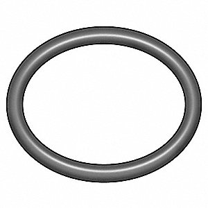 Round Medium Hard Viton O-Ring, 7.6mm I.D., 12.4mmO.D., 25PK