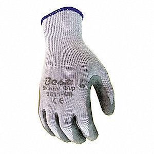 Cut Resistant Gloves,S,Gry,Nat Rubber,PR