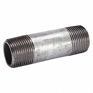 "1/2"" x 4"" Galvanized Steel Nipple, Pipe Schedule 160"