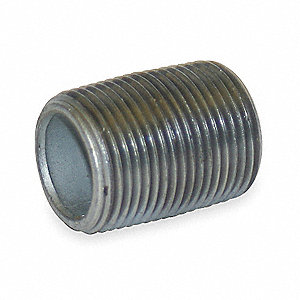 "1/4"" x Close Thread Galvanized Steel Nipple, Pipe Schedule 40"
