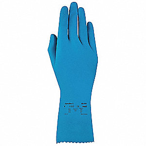 Chemical Resistant Gloves,  M/8,  Glove Materials Natural Rubber Latex,  1 PR