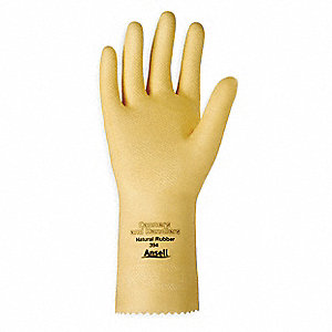 "Chemical Resistant Gloves, Size 9, 12""L, Yellow ,  1 PR"