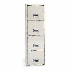 Vertical File Cabinet,4 Drawers,Putty
