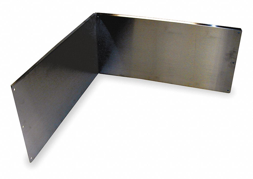 Stainless Steel Wall Guards For Use With Mfr. No. 63M