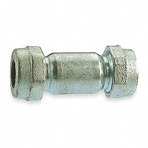"Galvanized Steel Coupling, 1"" Pipe Size, IPS Connection Type"