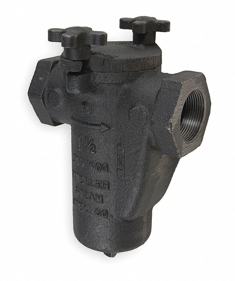 4-15//16 Length Cast Carbon Steel FNPT x FNPT Mueller Steam Specialty 1-1//4 Y Strainer 1//16 Mesh
