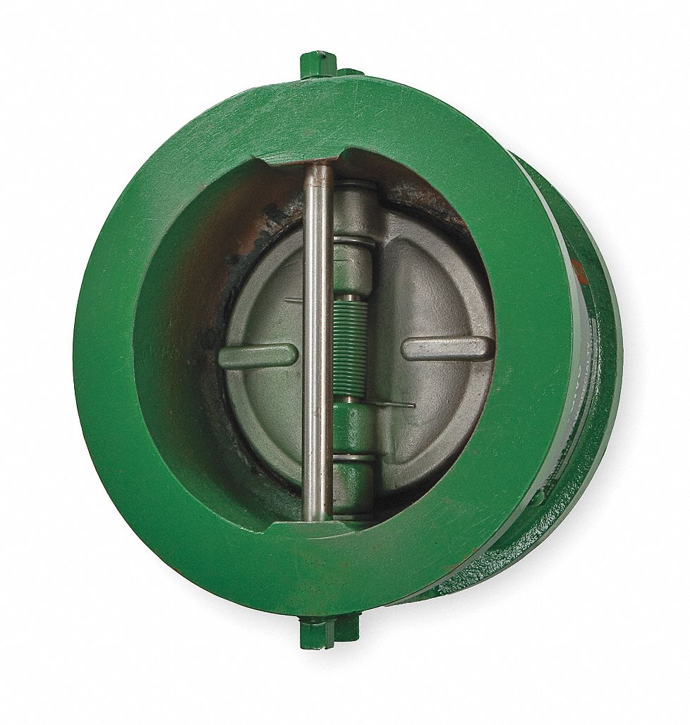 Check Valve,  3 in,  Single,  Inline Wafer,  Cast Iron,  Flanged Wafer x Flanged Wafer