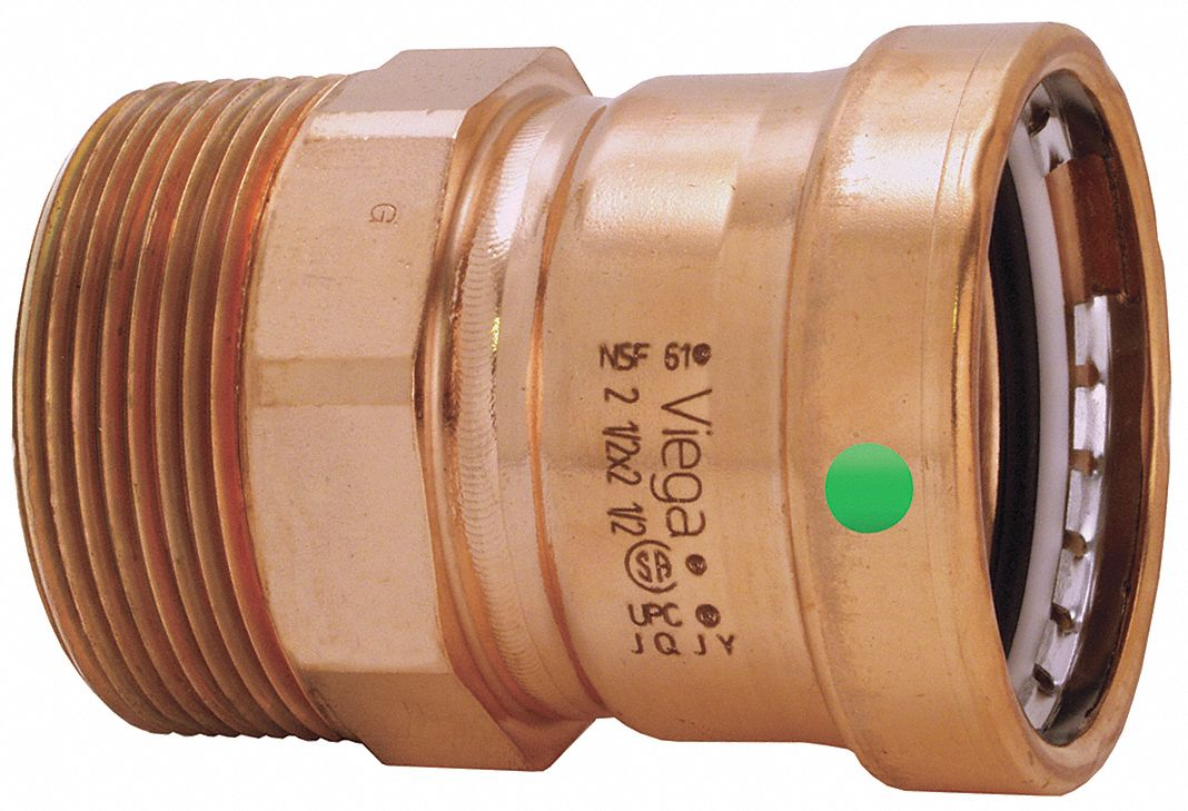 Copper XL Adapter, Press x MPT Connection Type, 3 in x 3 in Tube Size